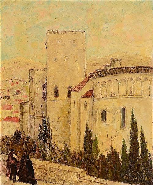 Salvador Vasquez Del Rio (1907-1967) The Alhambra Granda