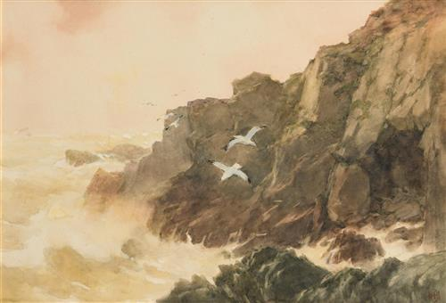 Helen Sophie O'Hara (1846-1920) On the Coast, Co Waterford