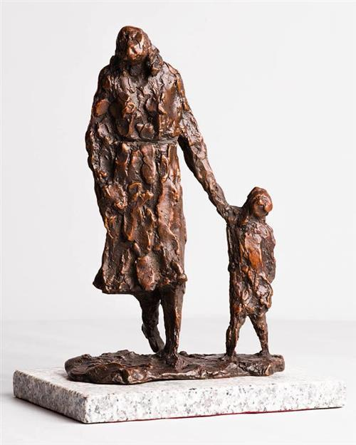 Melanie Le Brocquy HRHA (b.1919) Child and Mother Walking (1988)