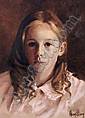 Ken Hamilton (b.1956): Portrait of a Girl oil on, Ken Hamilton, Click for value