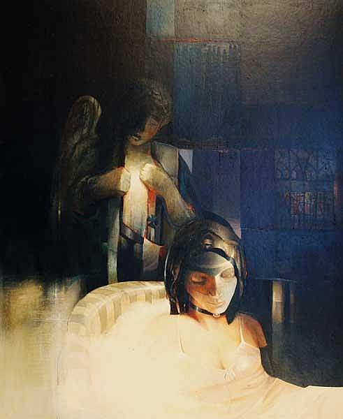 JOHN SHINNORS (B.1950) Solace oil on board (113 x