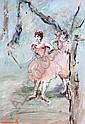 MARIE CARROLL (20TH/21ST CENTURY) Ballerinas oil, Marie Carroll, Click for value