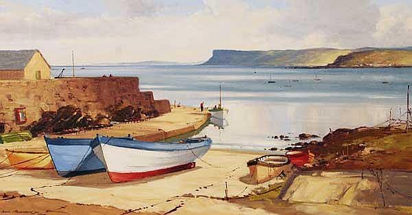 SAM MCLARNON VWS (B.1923) At Ballycastle oil on