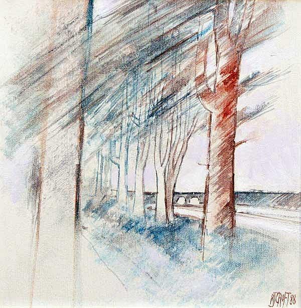 RICHARD J. CROFT RUA (B.1935) Trees by the River