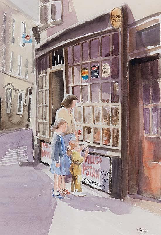Joe Hynes (20th/21st Century) The Sweet Shop