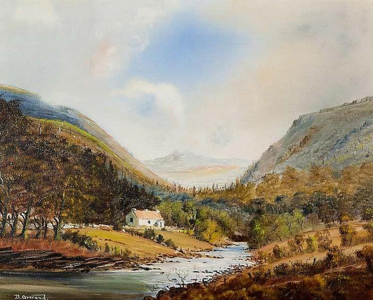 David Anthony Overend (b.1932) Bundorragha River, Co. Galway