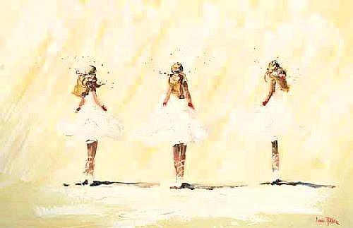 Lorna Miller (20th/21st Century) Three Ballerinas