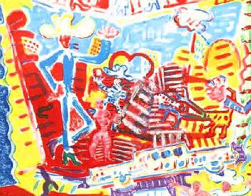 Michael Cullen (b.1946) Las Vegas-scape mixed