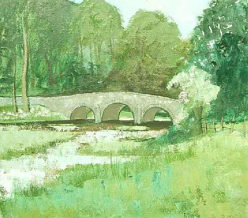 Richard J. Croft RUA (b.1935) Bridge at Bange I