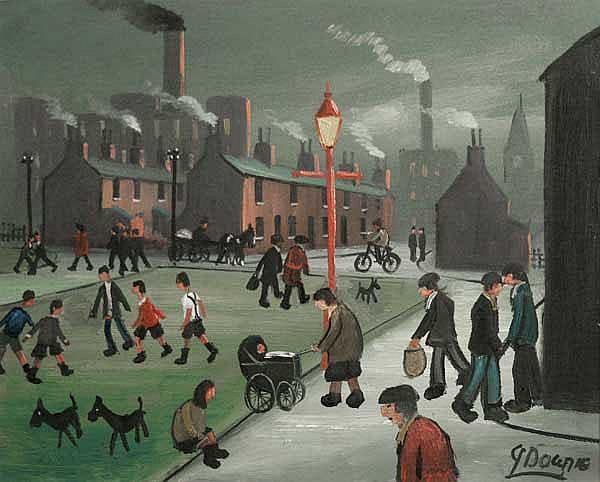 James Downie (20th/21st Century) Street Scene oil