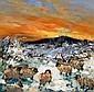 William Cunningham (b.1946) Sheep in Winter oil on, William Cunningham, Click for value