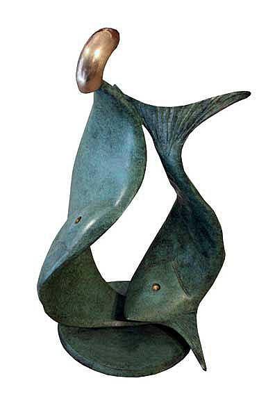 Sandra Bell (b.1954)  Pisces bronze ed 2/8 signed