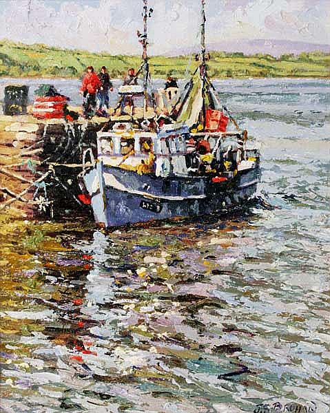 James S. Brohan (20th/21st Century) Trawler at the