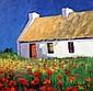 William Cunningham (b.1946) Poppies and Cottage, William Cunningham, Click for value