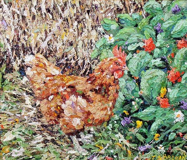 James S. Brohan (20th/21st Century) Farmyard Hen