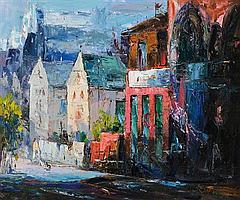 Stuart Williams (20th/21st Century) Dublin Street Scene