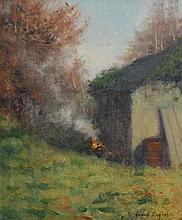 James English ARHA (b.1946) Burning Leaves