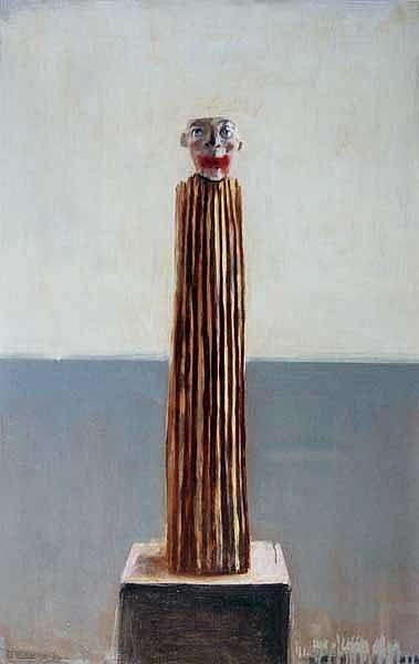 Ian Humphreys (20th/21st Century) Mannequin 02 oil