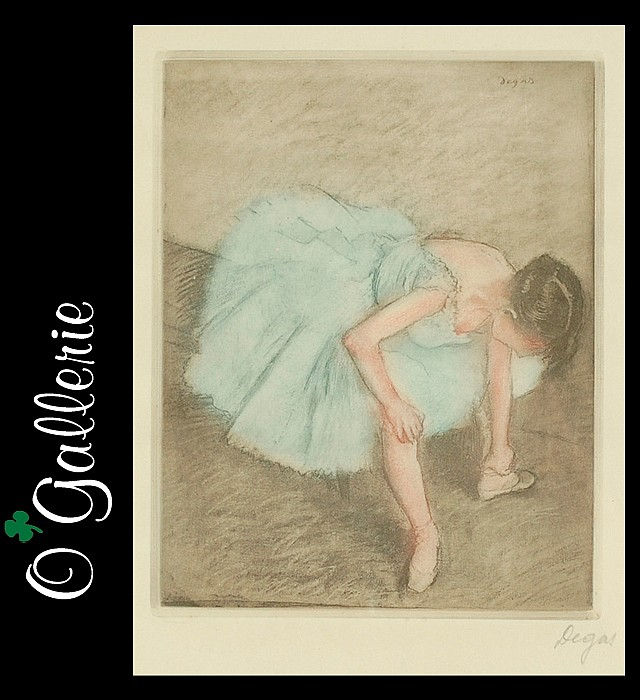 EDGAR DEGAS ETCHING IN COLORS (French,