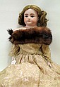 GERMAN BISQUE HEAD DOLL, attributed to Alt, Beck &