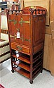 LATE VICTORIAN MAHOGANY FINISH MUSIC CABINET,