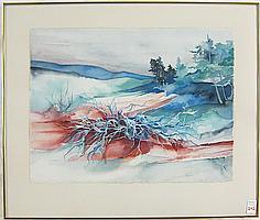 JOAN METCALF WATERCOLOR ON PAPER (Oregon, born