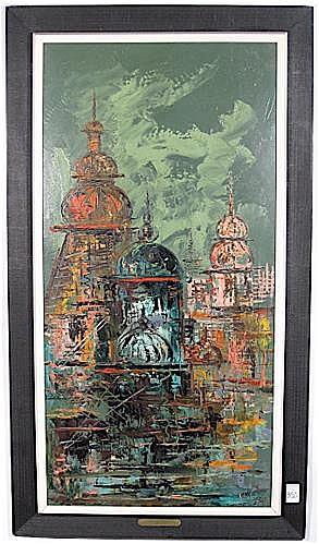 MORRIS KATZ OIL ON PANEL, 20th century, titled