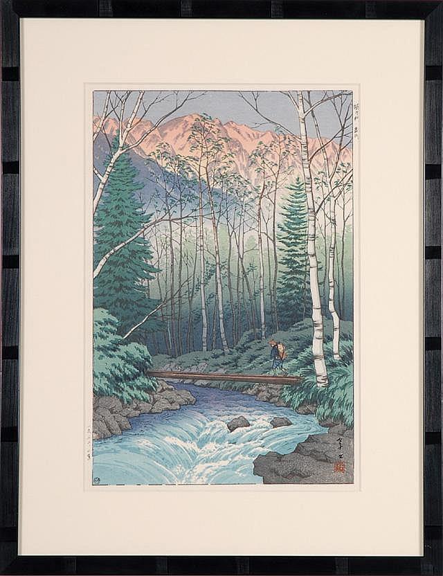 ITO TAKASHI COLOR WOODCUT (Kyoto, 1894-1985)