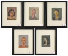 PAUL GREEN (Oregon, born 1960) five watercolors an