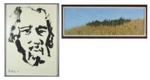 TWO DRAWINGS:  Tom Hardy (Oregon, born 1921) ink o