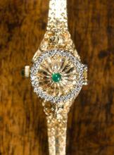 FABERGE DIAMOND AND FOURTEEN KARAT GOLD INTEGRAL B