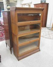 STACKING OAK BOOKCASE, American, early 20th centur