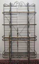 BRASS AND IRON BAKER'S RACK, French, 20th century,