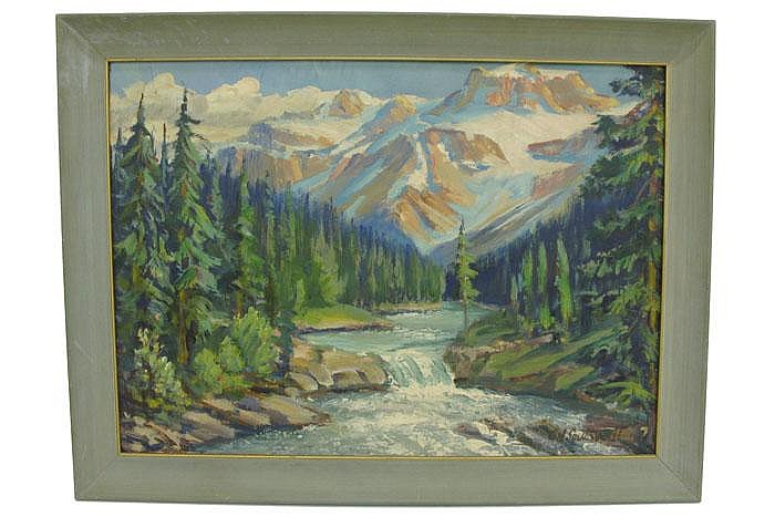 GEORGE H. SOUTHWELL OIL ON PANEL (Canadian,
