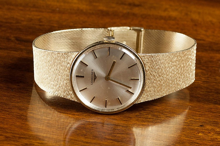 MAN'S GOLD LONGINES WRIST WATCH, 14K yellow gold c
