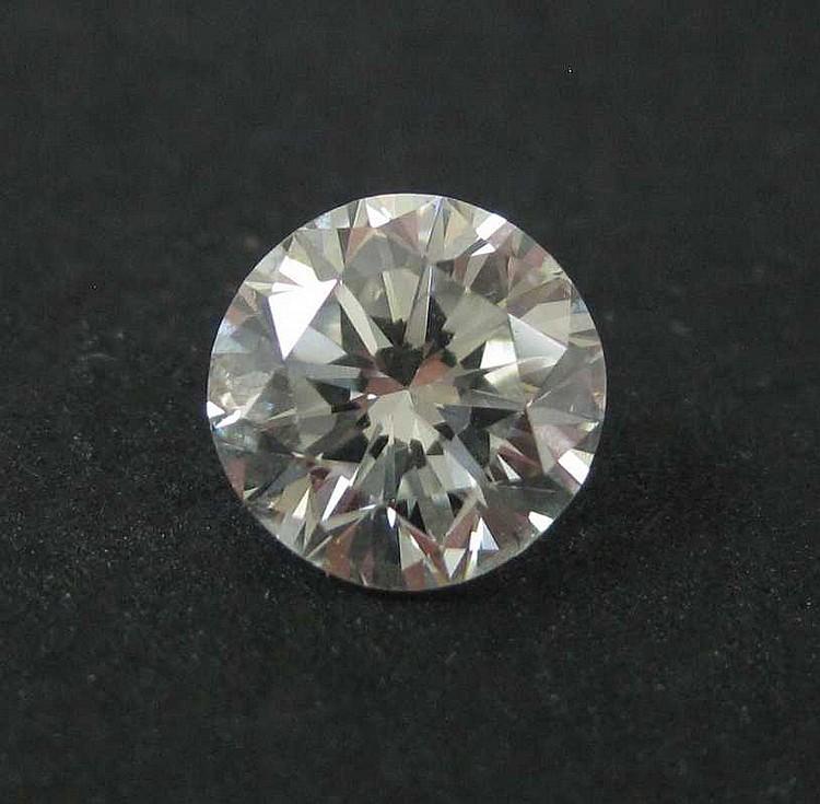 UNSET ROUND, BRILLIANT-CUT DIAMOND, weighing 0.85