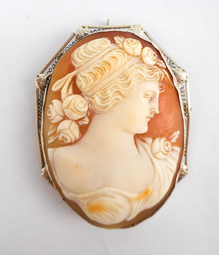 VICTORIAN CAMEO PENDANT/BROOCH, with an oval cameo