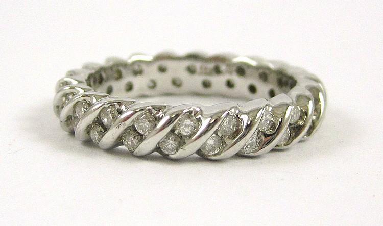 LAURA RAMSEY DIAMOND ETERNITY RING, 14k white gold