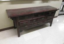 CHINESE MING STYLE ALTAR CHEST, having a long, rec