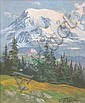 FRED OLDFIELD OIL ON MASONITE (Washington, born, Fred Oldfield, Click for value