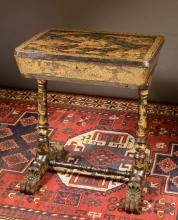 CHINESE EXPORT SEWING TABLE, English, 19th century