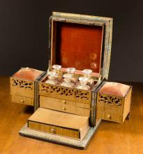 BOULLE MARQUETRY DRESSER TABLE BOX, French, 19th c