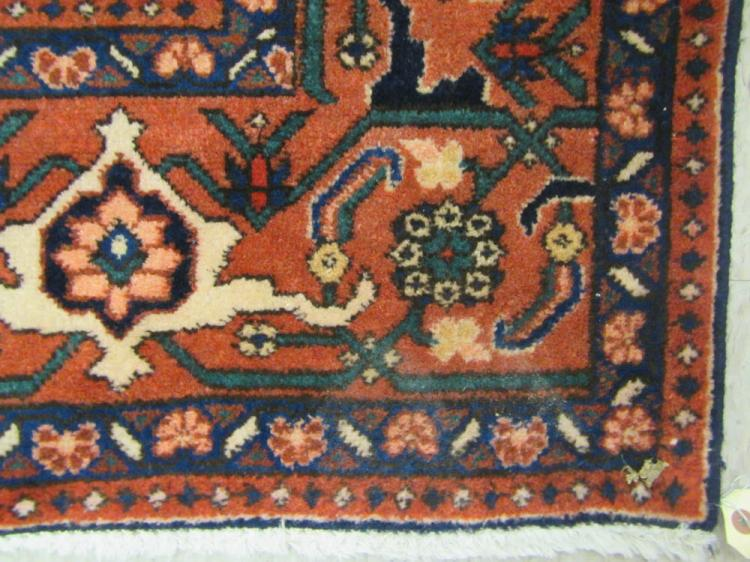 HAND KNOTTED PERSIAN CARPET, Heriz design featurin