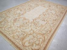 HAND TIED NEEDLEPOINT CARPET, French Aubusson desi
