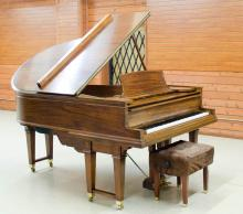 STEINWAY DUO-ART PLAYER GRAND PIANO WITH BENCH AND