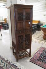CHINESE MING STYLE YUMU CABINET, having upper and