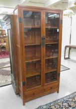TEAK, ELM AND GLASS CURIO CABINET, Chinese, last q