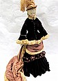 BISQUE SHOULDER HEAD FASHION DOLL with blond