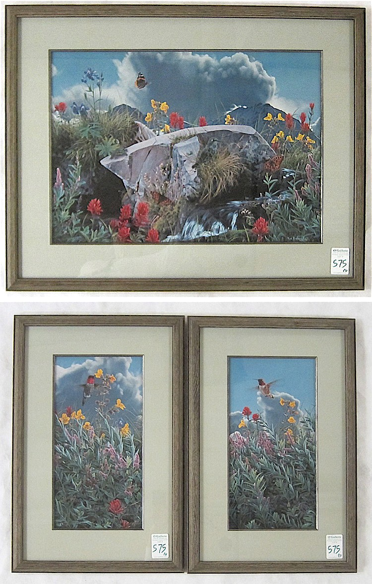 ROD FREDERICK, TRIPTYCH OFF-SET LITHOGRAPH