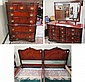 FOUR-PIECE FEDERAL STYLE MAHOGANY BEDROOM